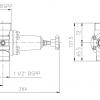 Polmac pressure valve with lock position diagram